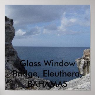 HPIM1421のガラス窓橋、エリューセラ島、バハマ ポスター