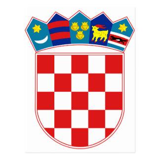 HR Hrvatskaクロアチアの紋章付き外衣 葉書き