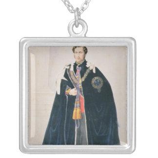 、HRHアルバートエドワードウェールズ王子 シルバープレートネックレス