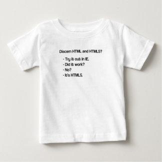 HTMLおよびHTML5を検知して下さい ベビーTシャツ