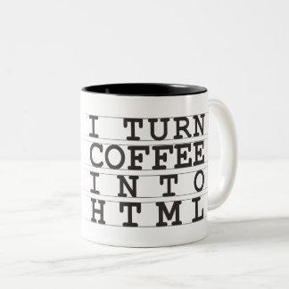HTMLのコーヒー ツートーンマグカップ