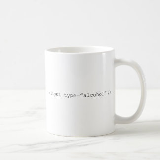 HTMLの入力アルコール コーヒーマグカップ