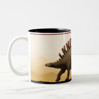 HTMLの恐竜 ツートーンマグカップ