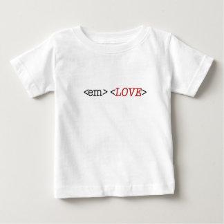 HTMLコード衣類のベビーのTシャツ ベビーTシャツ