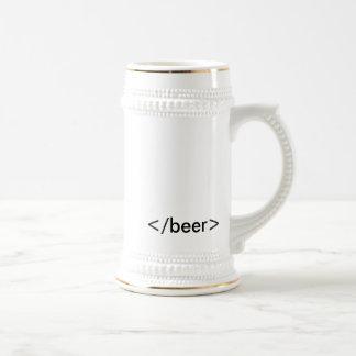 HTML <beer> ステイン ビールジョッキ