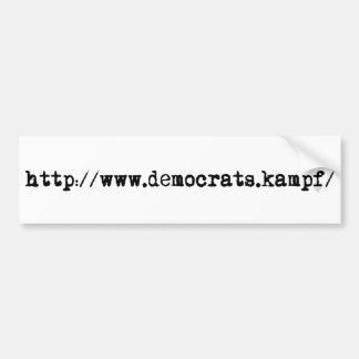 http://www.democrats.kampf/ バンパーステッカー