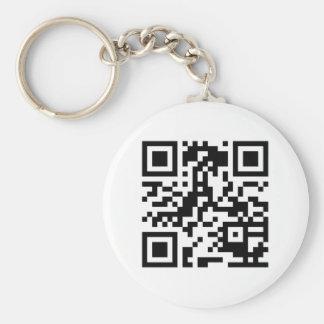 http://www.qrsource.comからのQRのバーコードKeychain キーホルダー