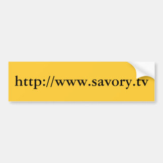 http://www.savory.tv バンパーステッカー