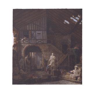 Huber著ローマの古さのレストアラーのスタジオ ノートパッド
