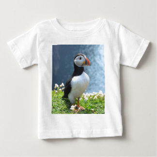 Huffinのツノメドリ ベビーTシャツ