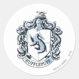 Hufflepuffの頂上の青 ラウンドシール
