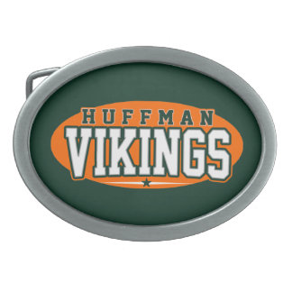 Huffmanの高等学校; バイキング 卵形バックル