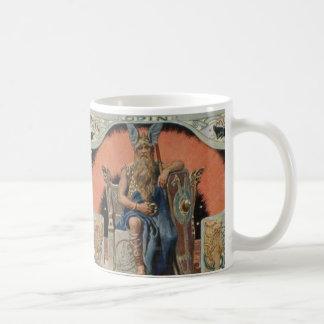 HuginnおよびMuninnのマグとのOdin コーヒーマグカップ