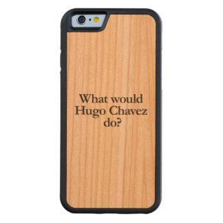 Hugo Chavezする何が CarvedチェリーiPhone 6バンパーケース