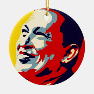 Hugo Chavez -オバマの希望のスタイル セラミックオーナメント