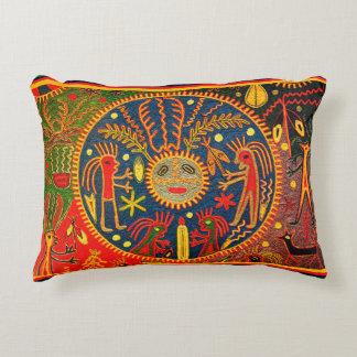 Huicholのシャーマンの装飾用クッション アクセントクッション
