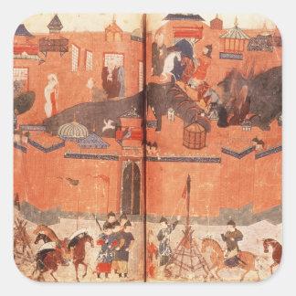 Hulagu Khanの指揮を受けるモンゴル人 スクエアシール