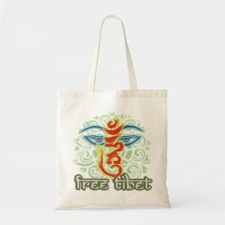 <HUM> -自由なチベット トートバッグ