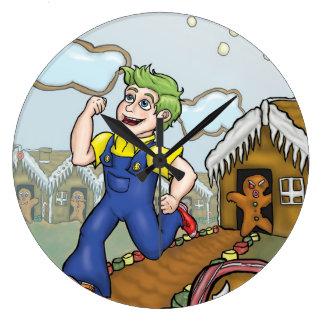 Humanbreadmanの時計 ラージ壁時計