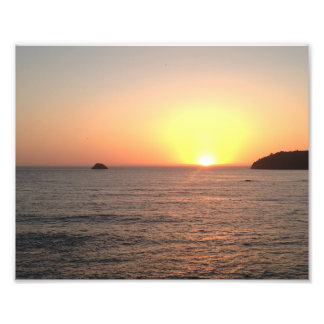 Humboldt郡カリフォルニアの海の日没 フォトプリント