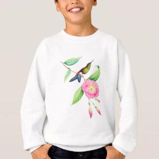 HumingbirdおよびHybiscus スウェットシャツ
