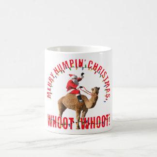 Humpinのメリーなクリスマスサンタ及びラクダ コーヒーマグカップ