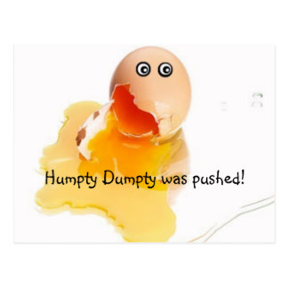 Humpty Dumptyは押されました! ポストカード