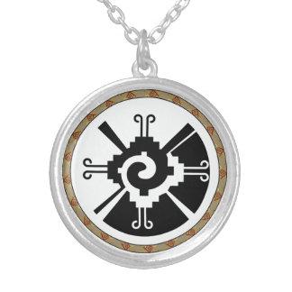 Hunab Ku -マヤの神 シルバープレートネックレス