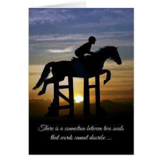 Hunter Jumper Loss of Horse Sympathy Card カード