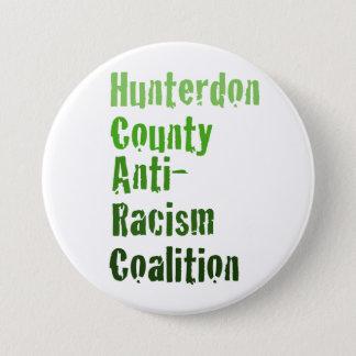 Hunterdonの人種差別反対主義のPinbackボタン 7.6cm 丸型バッジ