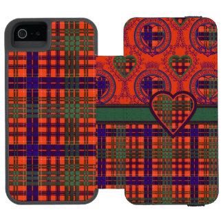 Huntlyの一族の格子縞のスコットランド人のタータンチェック iPhone SE/5/5sウォレットケース