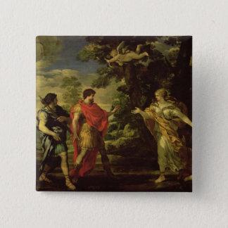 HuntressとしてAeneas現われる金星c.1635 (oに 5.1cm 正方形バッジ