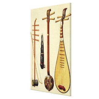 huqinおよび弓、sheng、sanxianおよび中国琵琶、CH キャンバスプリント