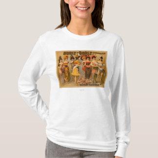 Hurlyたくましい催しおよび精製されたボードビル Tシャツ