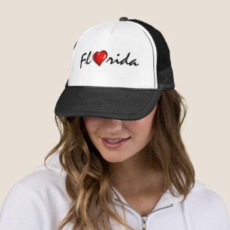 Hurricane Irma Florida Heart Support Trucker Hat キャップ