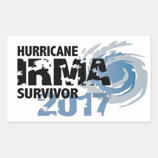 Hurricane Irma Survivor Florida Bumper Sticker 長方形シール