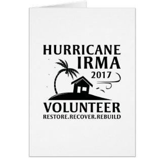 Hurricane Irma Volunteer カード