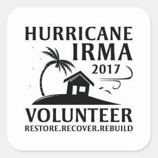 Hurricane Irma Volunteer スクエアシール