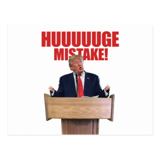 Huuuuugeの間違いのドナルド・トランプの郵便はがき ポストカード