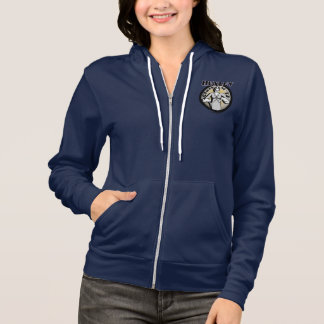 Huxleyの大学女性のフリースのフード付きスウェットシャツ パーカ