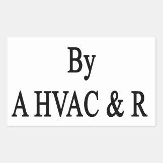 HVAC Rの技術によって得意気に上げられて 長方形シール