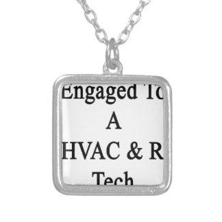 HVAC Rの技術に婚約した シルバープレートネックレス