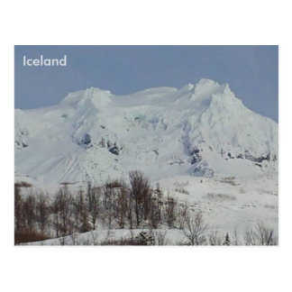 Hvannadalshnúkur山、アイスランド ポストカード