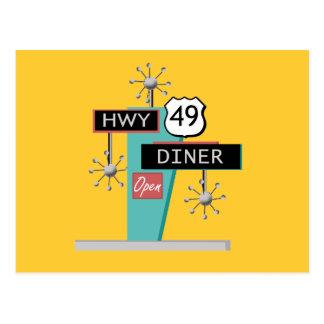HWY 49のダイナー ポストカード