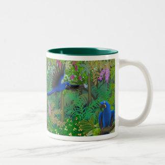 Hyacinthのコンゴウインコのジャングルのマグ ツートーンマグカップ