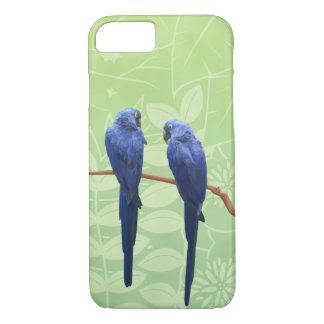 Hyacinthのコンゴウインコのデュオの電話箱 iPhone 8/7ケース