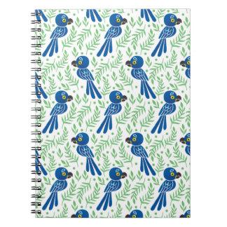 Hyacinthのコンゴウインコパターン ノートブック