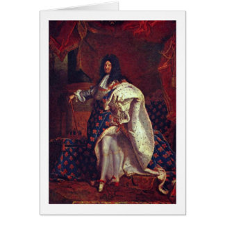 Hyacinthe Rigaud著ルイ14世のポートレート カード