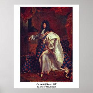 Hyacinthe Rigaud著ルイ14世のポートレート ポスター