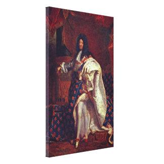 Hyacinthe Rigaud -ルイ14世のポートレート キャンバスプリント